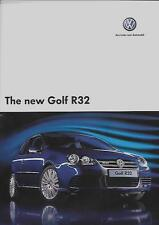 VW VOLKSWAGEN GOLF R32   SALES BROCHURE NOVEMBER 2005 FOR  2006 MODEL YEAR
