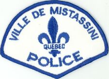 Ville de Mistassini Police, Quebec, Canada HTF Vintage Uniform/Shoulder Patch