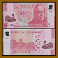 Paraguay 5000 (5,000) Guaranies, 2016 P-234 Polymer Train Unc