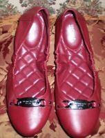 MICHAEL KORS JOYCE-BALLET SHOES RED COLOR LEATHER SIZE 7 M