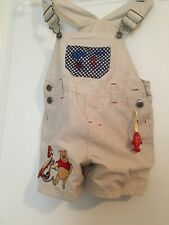Pooh & Tigger Baby Toddler Boy's Bib Overalls Shorts Coveralls Sz 18M One-Piece