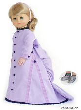 """Doll Clothes AG 18"""" Dress Victorian Lavender Carpatina Fits American Girl Dolls"""