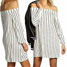 Unbranded Striped Regular Size Dresses for Women