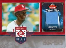 LOU BROCK 2006 FLEER GREATS OF THE GAME CARDINALS GREATS GAME USED JERSEY