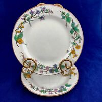 Vintage WOODHILL By CITATION Stoneware Floral Salad Dessert Plates Set Of 2