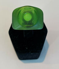 Green Lantern Band Ring with Glow-in-the-dark Stone, Resin, made in USA