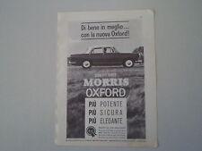 advertising Pubblicità 1962 BMC MORRIS OXFORD