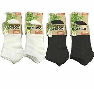 Men Trainer Socks Bamboo Ankle Socks Soft Breathable Odour Resistant Pack of 3