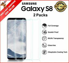 Samsung Galaxy S8 Heavy Duty Tempered Glass Screen Protector 3D Film HD 2 Pack