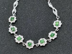 Icy Ice Green Natural Jadeite Jade Bracelet /冰种阳绿天然缅甸翡翠手链