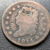 1814 Large Cent Classic Head One Cent 1c circulated  #28978