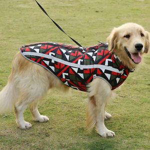 Waterproof Pet Dog Vest Coat Padded Jacket Winter Warm Clothes L-3XL