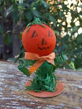 New ListingAntique Crepe Paper Halloween Pumpkin