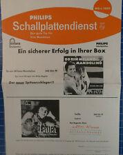 Philips Schallplattendienst Tipp für Musikbox März 1960 H-1911