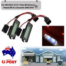 For VW Golf 4 5 6 7 6R Passat B6 Vehicle LED Lamp Led License Plate Light AU 2PC