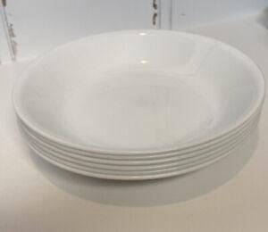 "Corelle WINTER FROST WHITE Set of 6 Salad Pasta Bowls 8 1/2"" 20 oz."