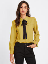 NEW Bow Tie Neckline Shirt / One size (fits like a Medium/Large)