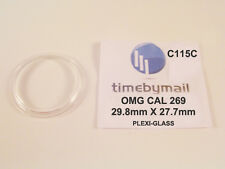 Per Omega 121.001 Cal 269 NUOVO WATCH plexi-glass Crystal RICAMBIO 29.8 mm c115c
