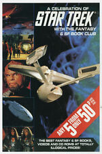 <•.•> A CELEBRATION OF STAR TREK • Fantasy & SF Book Club Promotional Flyer •