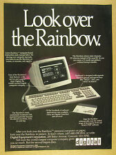 1983 DEC Digital Rainbow 100 Computer PC monitor keyboard photo vintage Ad