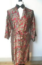 Vintage Davenport Gent's Paisley Dressing Gown Smoking Jacket Mod Dandy One Size