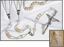 Mother of Pearl Lasso Wedding Rosary (TC731) NEW