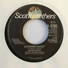 """SURVIVOR - BURNING HEART - 7"""" VINYL SINGLE"""