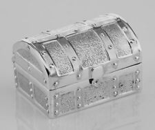 Silver Pill Box - Treasure Chest Keepsakes Pillbox #Papps97379 Lot 20161917