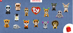 2021 McDONALD'S Ty Beanie Boos Baby Babies HAPPY MEAL TOYS Or Set