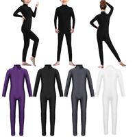 Kids Girls Gymnastics Dance Leotards Ballet Leotard Dancewear Full Body Jumpsuit
