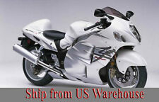 White w/ Silver Fairing Injection for 1999-2007 Suzuki GSXR 1300 Hayabusa 2006