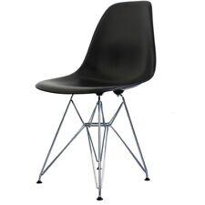 Negro Plástico de estilo Eiffel silla lateral Retro - 6 opciones de pierna/entrega UK LIBRE