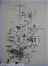 BRAQUE GEORGES LITHOGRAPHIE 1963 DERRIÈRE LE MIROIR DLM LITHOGRAPH CUBISME