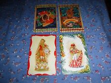 a36. 4 Vintage Swap Playing Cards  Aloha Hawaii  Spanish Lady