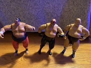 3 WWE Jakks Pacific 2004 Classic Superstars Series 4 - YOKOZUNA Wrestling Figure
