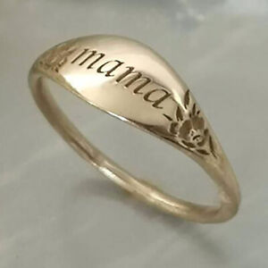 Simple18K Yellow Gold Filled Pattern carving  Flower Ring Women Fine Jewelry SZ6