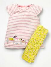 MINI Boden Baby GIRLS Fun Appliqué Play Set TOP&PANTS BRAND NEW 12 - 18 Months