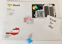 BLUE First Day Cover FDC Crypto Stamp Ersttag Ersttagsbrief Letter CS1 ETHEREUM
