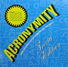 Acronymity Trivia Edition Board Game Complete Ages 12+ Years 2 to 4 Players 1212