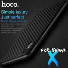 For Apple iPhone X Slim Carbon Fiber Texture Soft TPU Rubber Case Cover Shell