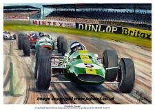A3  ART PRINT - JIM CLARK - LOTUS 33 - SILVERSTONE 1965