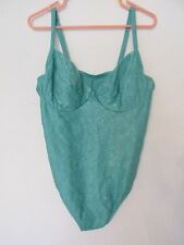 Women's Newport News Swim One-Piece Kelly Green Floral Swimsuit Plus Size 20W
