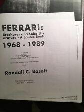 Ferrari Sales Brochure Collection