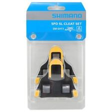 SHIMANO YELLOW SM-SH11 SPD-SL FLOAT ROAD BIKE SELF LOCKING CYCLING PEDALS CLEATS