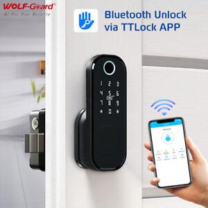 Smart Wifi Fingerprint Door Lock APP Control Gateway Support for Alexa & Google