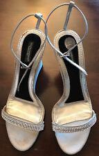 DOLCE & GABBANA Riemchen Sandalette Sandale Strass goldig Gr 37 Wedges