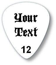 PERSONALISED CUSTOM printed guitar picks, plectrums with your name, logo, design