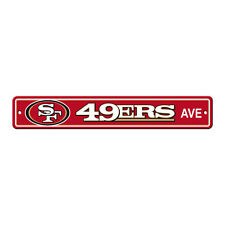 """New San Francisco 49ers AVE Street Sign 24"""" x 4"""" Styrene Plastic Made in USA"""