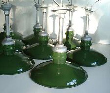 "VTG Porcelain 12"" Westinghouse Green Light Grey Top Barn Industrial Warehouse"