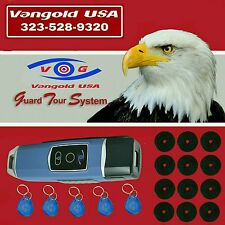 RFID Inductive Guard Tour Patrol Reader System 12 I Button 5 Guard Buttonbl
